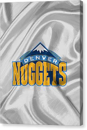 Denver Nuggets Canvas Print by Afterdarkness