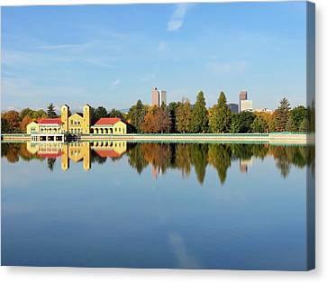 Denver Reflections Canvas Print by Connor Beekman