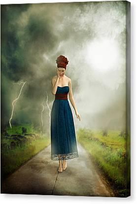 Depression Canvas Print by Britta Glodde