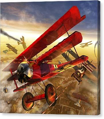 Der Rote Baron Canvas Print by Kurt Miller