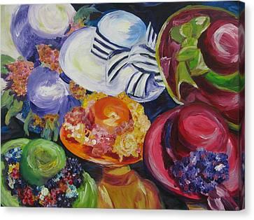 Derby Hats Canvas Print by Dani Altieri Marinucci