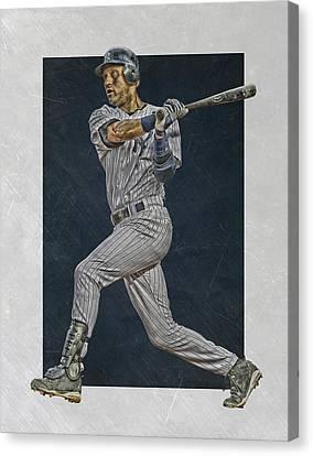 Derek Jeter New York Yankees Art 2 Canvas Print by Joe Hamilton