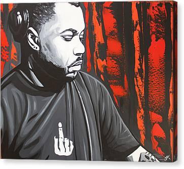 Derrick Carter Canvas Print by Justin Robertson