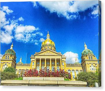 Des Moines-capital City Canvas Print by Jame Hayes