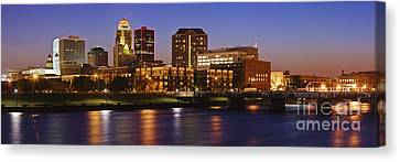Des Moines Skyline Canvas Print by Jeremy Woodhouse