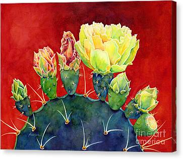 Desert Bloom 3 Canvas Print by Hailey E Herrera