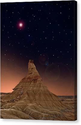 Desert Night Canvas Print by Inigo Cia
