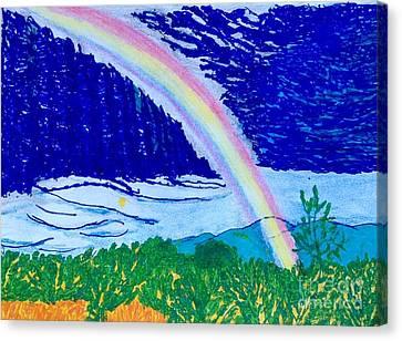 Desert Rainbow Canvas Print by Ishy Christine Degyansky