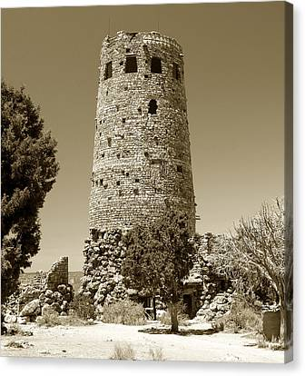 Desert Tower Work Number 2 Canvas Print by David Lee Thompson