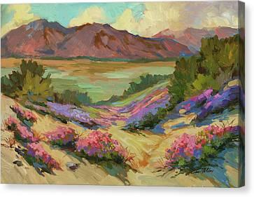 Desert Verbena At Borrego Springs Canvas Print by Diane McClary