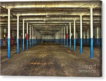 Deserted After Cotton Was King The Mary Leila Cotton Mill 1899 Canvas Print by Reid Callaway