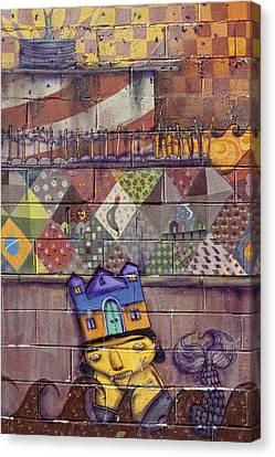 Detail - Mural Coney Island 2 Canvas Print by Robert Ullmann