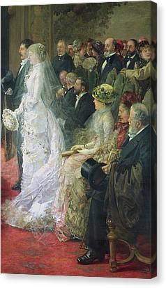 Detail From The Civil Marriage Canvas Print by Henri Gervex