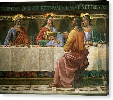 Detail From The Last Supper Canvas Print by Domenico Ghirlandaio