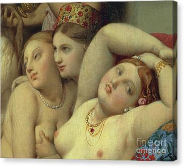 Detail From Turkish Bath Canvas Print by Jean Auguste Dominique Ingres