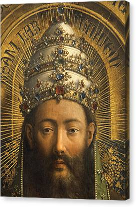 Detail Of God The Father Canvas Print by Van Eyck