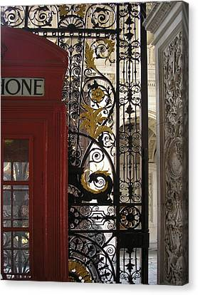 Details .. The Royal Academy Of Arts Canvas Print by Connie Handscomb