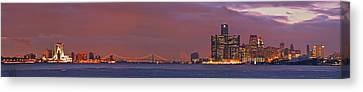 Detroit Skyline Canvas Print by Michael Peychich
