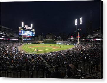 Detroit Tigers Comerica Park Lower Level 1 Canvas Print by David Haskett