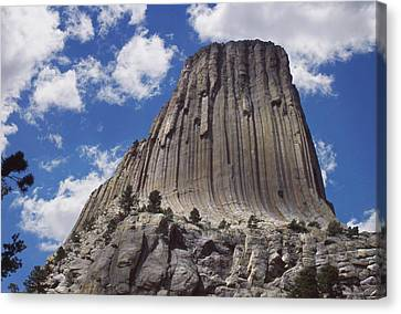 Devils Tower National Monument - Wyoming Canvas Print by Mike McGlothlen