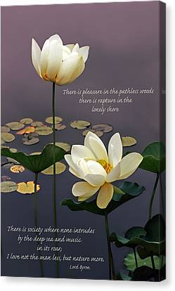 Devotion With Quote Canvas Print by Jessica Jenney