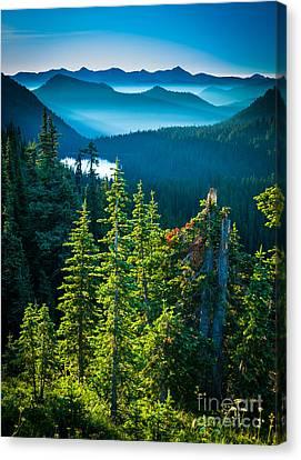 Dewey Lake Canvas Print by Inge Johnsson