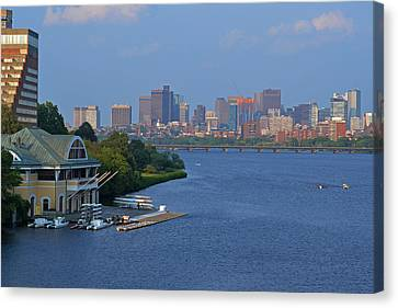 Dewolfe Boathouse Boston Ma Canvas Print by Toby McGuire