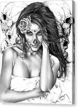 Dia De Los Muertos 2 Canvas Print by Pete Tapang