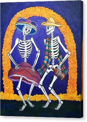 Dia De Los Muertos Canvas Print by Candy Mayer