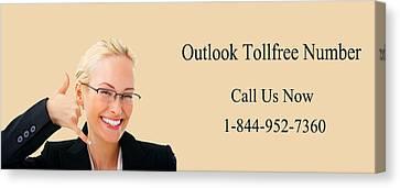 Dial Outlook Toll Free Helpline Number  Canvas Print by Katharine Isabella