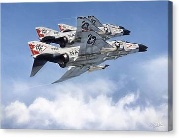 Diamonback Echelon Canvas Print by Peter Chilelli