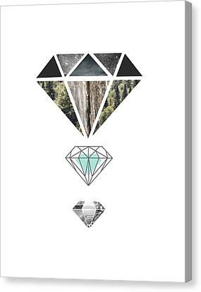 Diamond Art Print Canvas Print by Manuela Pugliese