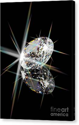 Diamond Canvas Print by Atiketta Sangasaeng