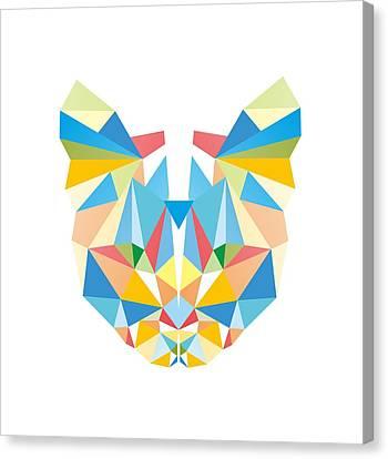 Diamond Cat Canvas Print by Julia Jasiczak
