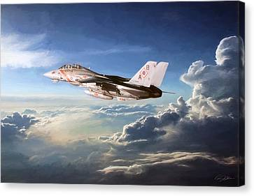 Diamonds In The Sky Canvas Print by Peter Chilelli