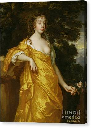Diana Kirke-later Countess Of Oxford Canvas Print by Sir Peter Lely