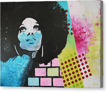 Diana Ross Canvas Print by Bitten Kari
