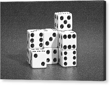 Dice Cubes IIi Canvas Print by Tom Mc Nemar