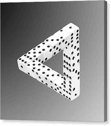 Dice Illusion Canvas Print by Shane Bechler