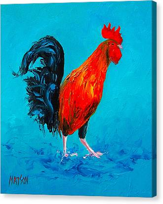 Digby The Rooster Canvas Print by Jan Matson