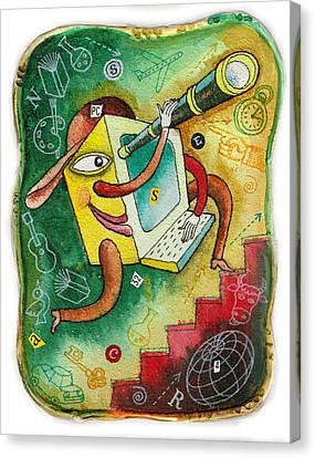Digital Age Canvas Print by Leon Zernitsky