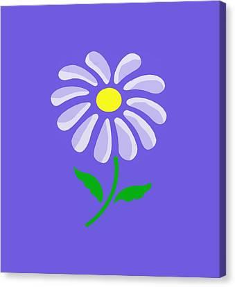 Digital Flower  Canvas Print by Gina Lee Manley
