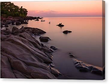 Dimming Of The Day Canvas Print by Mary Amerman