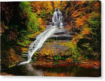 Dingmans Falls In Autumn 1 Canvas Print by Raymond Salani III
