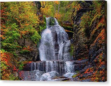 Dingmans Falls In Autumn 2 Canvas Print by Raymond Salani III