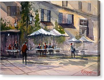 Dining Alfresco Canvas Print by Ryan Radke