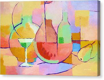 Dining Art Canvas Print by Lutz Baar