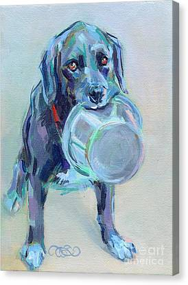 Dinnertime Dutchess Canvas Print by Kimberly Santini