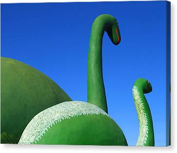 Dinosaur Walk  Canvas Print by Mike McGlothlen