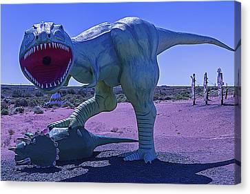 Dinosaur With Kill Canvas Print by Garry Gay